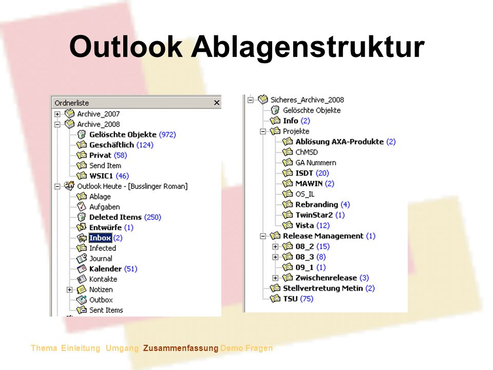 Outlook Ablagenstruktur