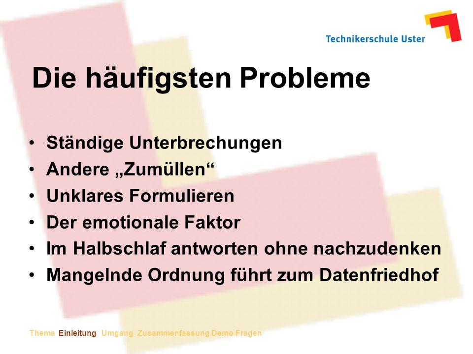 Die häufigsten Probleme