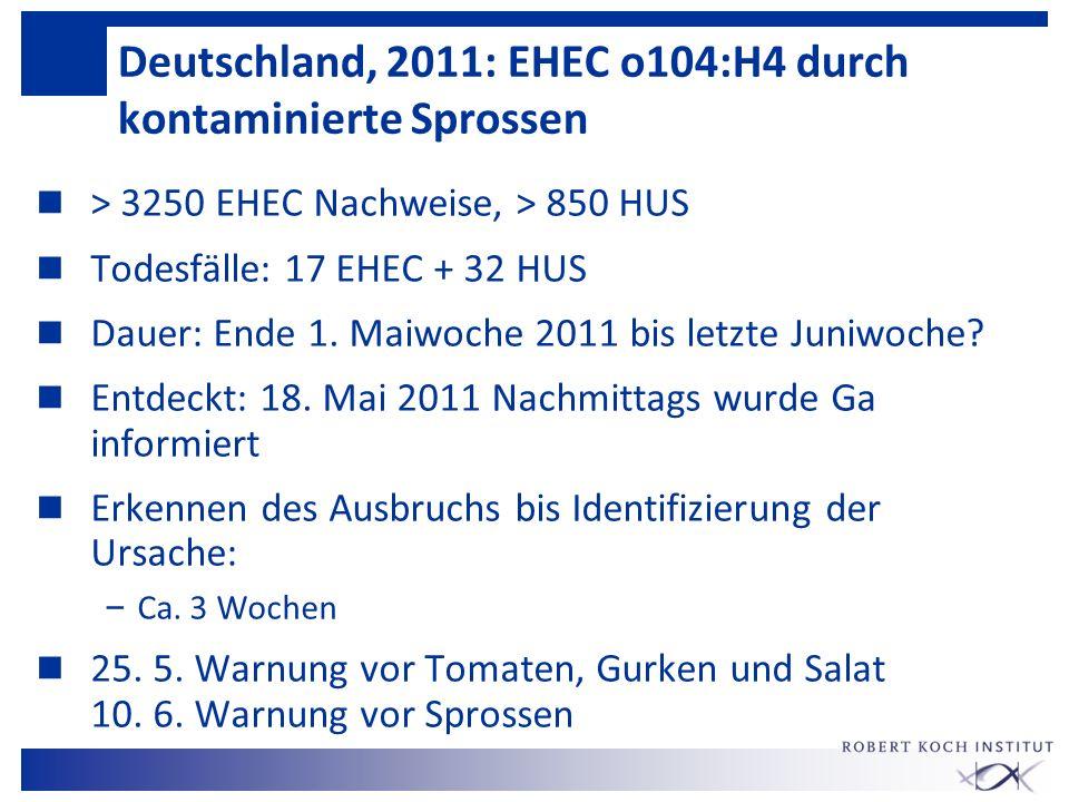 Deutschland, 2011: EHEC o104:H4 durch kontaminierte Sprossen