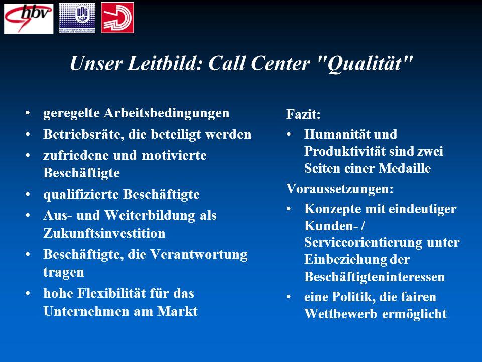 Unser Leitbild: Call Center Qualität