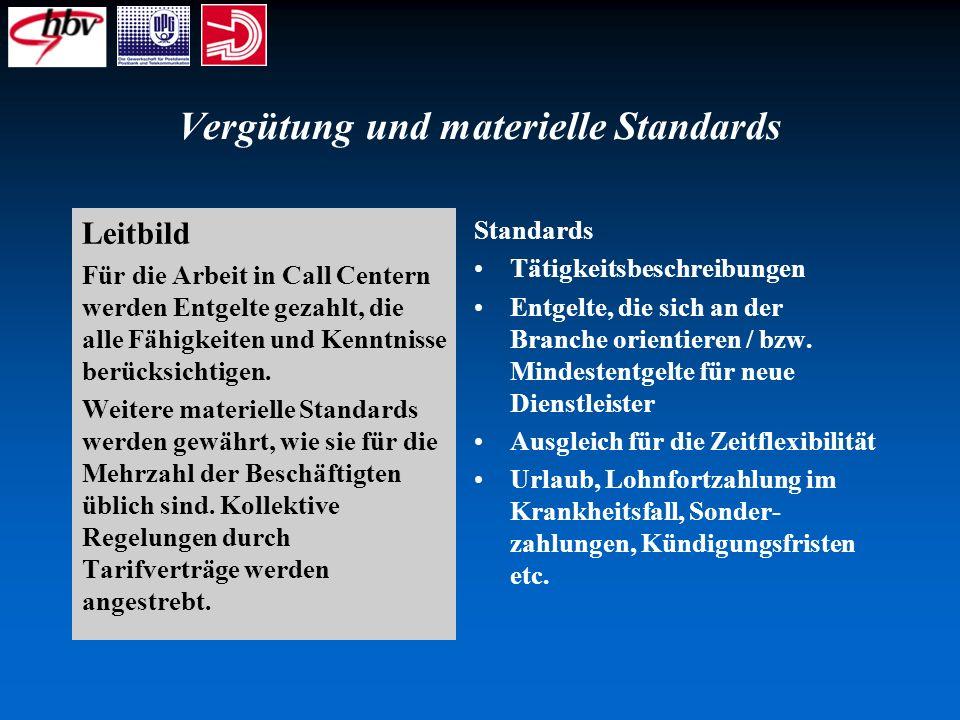Vergütung und materielle Standards