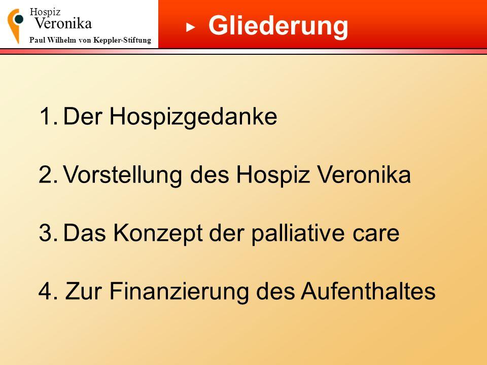 Gliederung 1. Der Hospizgedanke 2. Vorstellung des Hospiz Veronika