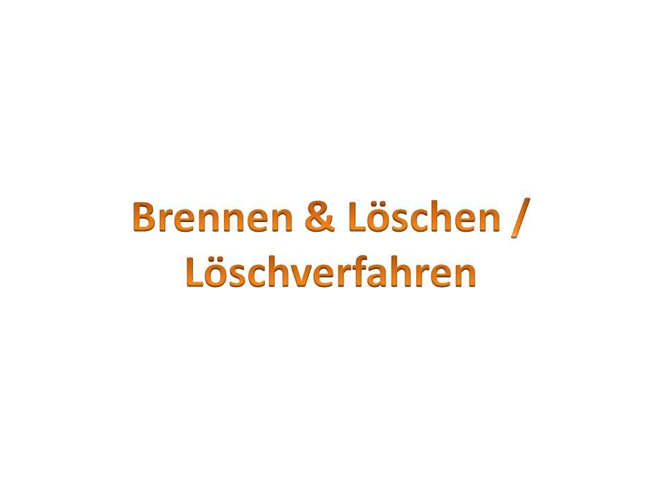 Brennen & Löschen / Löschverfahren