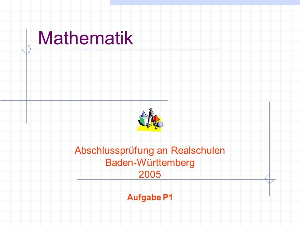 Abschlussprüfung an Realschulen
