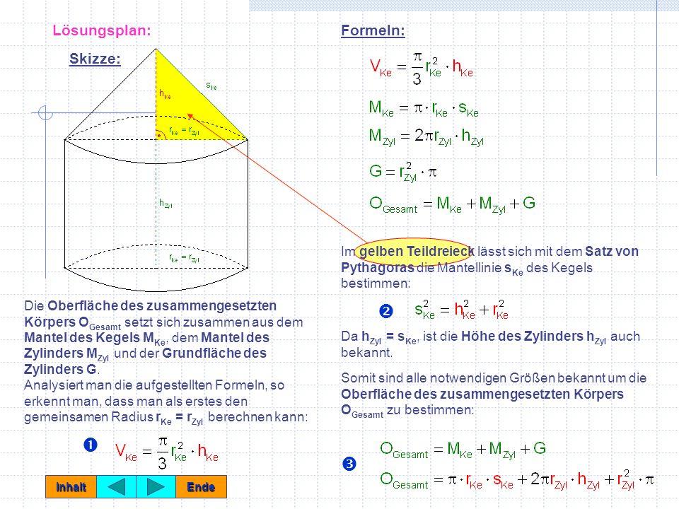  Œ Ž Lösungsplan: Formeln: Skizze: