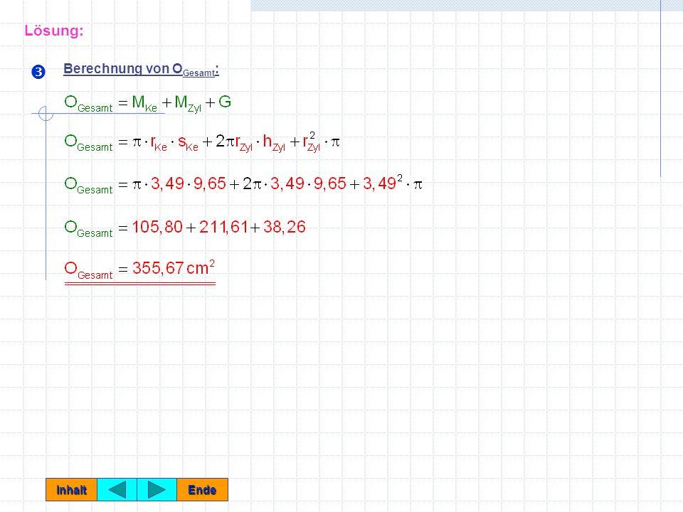 Lösung: Ž Berechnung von OGesamt: Inhalt Ende
