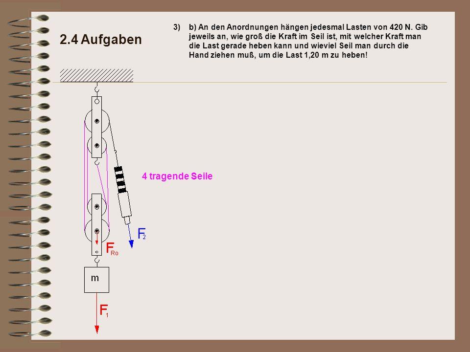 2.4 Aufgaben 4 tragende Seile 3)