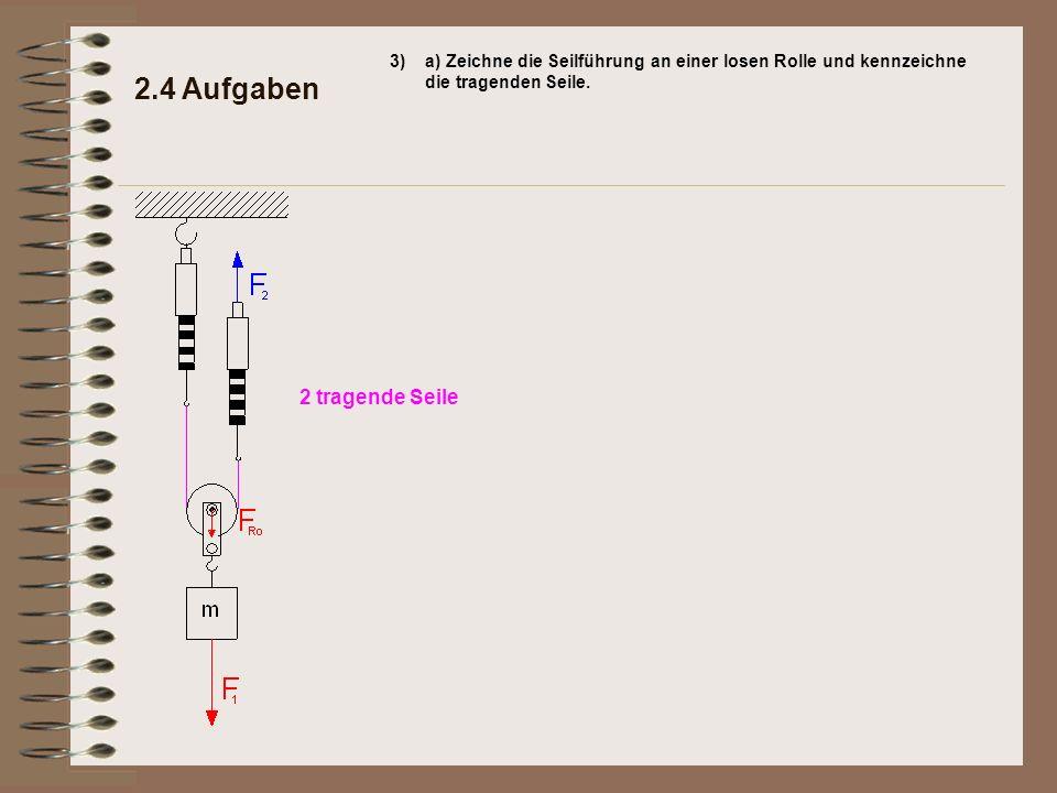 2.4 Aufgaben 2 tragende Seile 3)