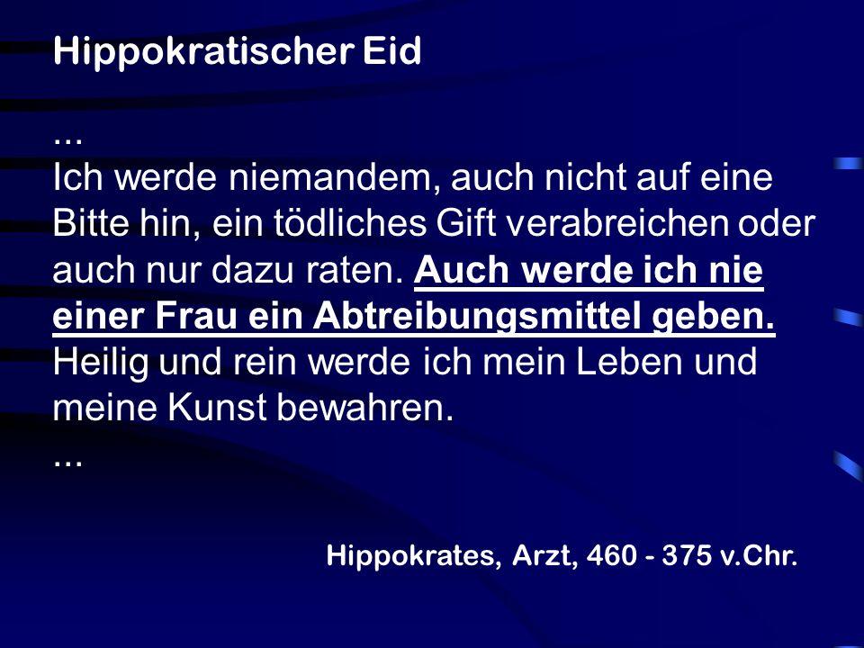 Hippokratischer Eid ...