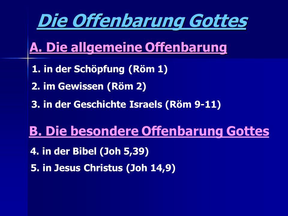 Die Offenbarung Gottes