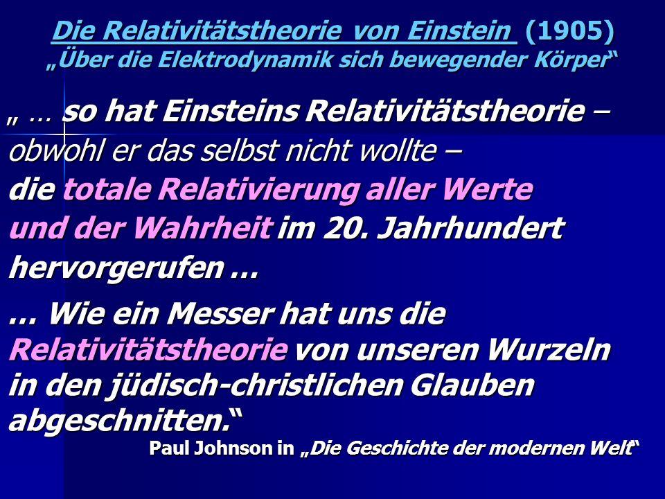 """"""" … so hat Einsteins Relativitätstheorie –"""