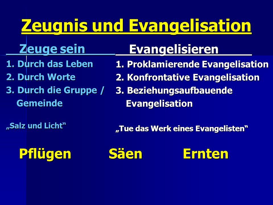 Zeugnis und Evangelisation
