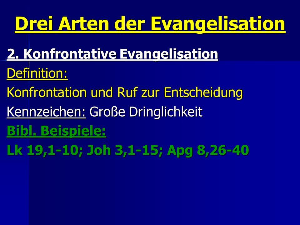 Drei Arten der Evangelisation
