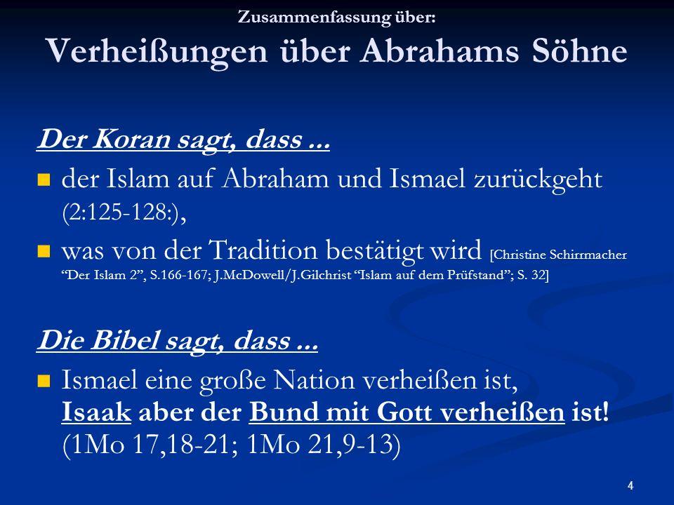 Zusammenfassung über: Verheißungen über Abrahams Söhne
