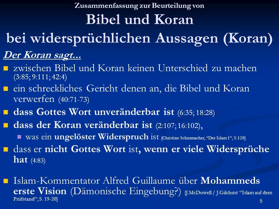dass Gottes Wort unveränderbar ist (6:35; 18:28)
