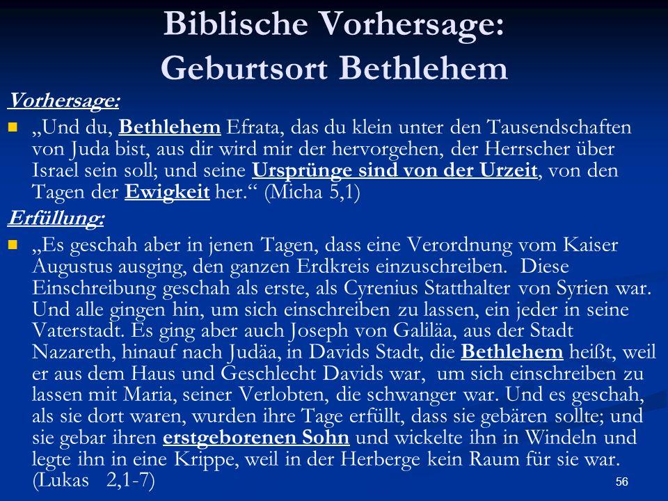 Biblische Vorhersage: Geburtsort Bethlehem