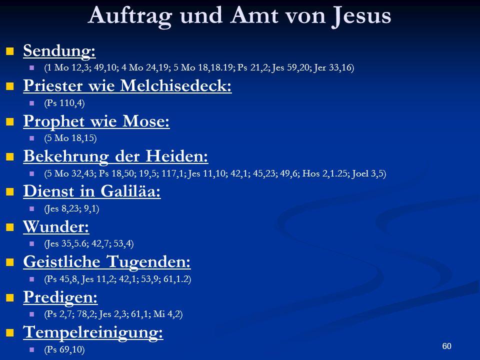 Auftrag und Amt von Jesus