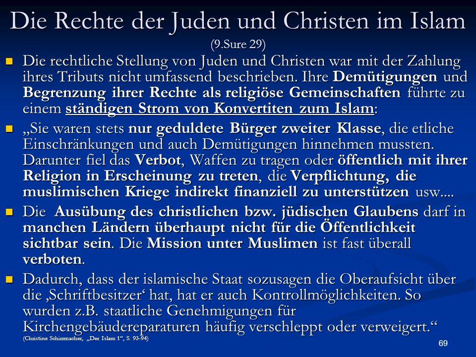 Die Rechte der Juden und Christen im Islam (9.Sure 29)