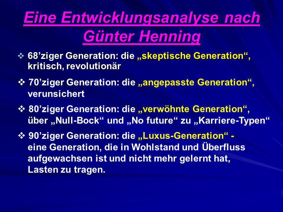 Eine Entwicklungsanalyse nach Günter Henning