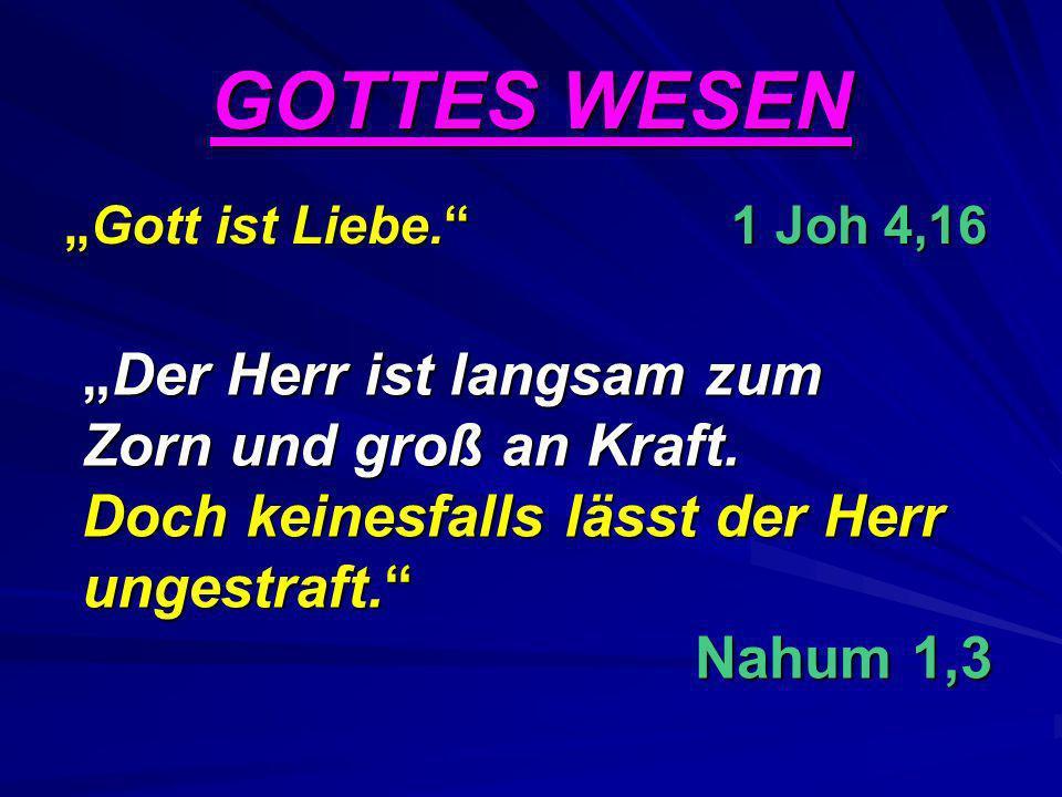 """GOTTES WESEN """"Gott ist Liebe. 1 Joh 4,16."""