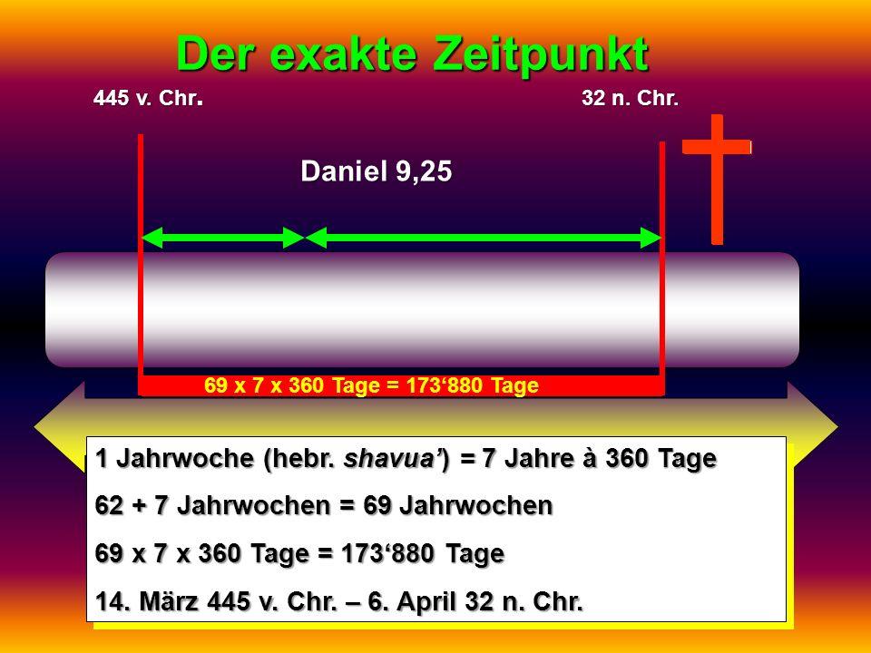 Der exakte Zeitpunkt Daniel 9,25