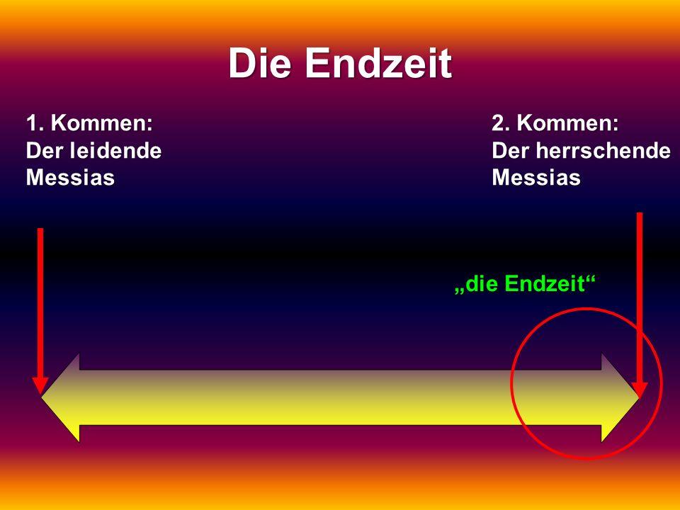 Die Endzeit 1. Kommen: Der leidende Messias 2. Kommen: Der herrschende