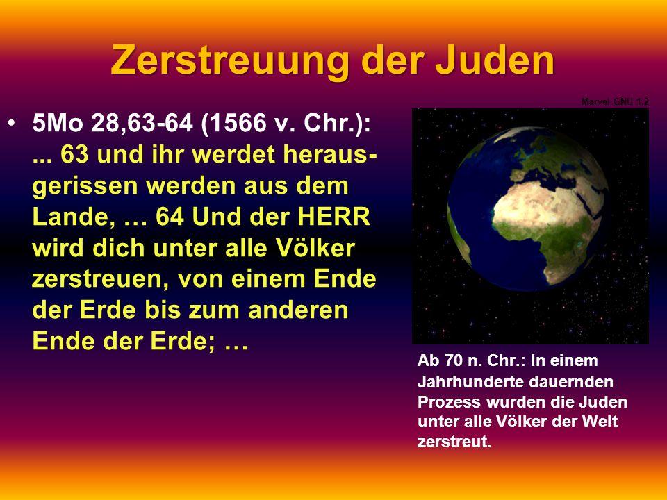 Zerstreuung der Juden Marvel GNU 1.2.