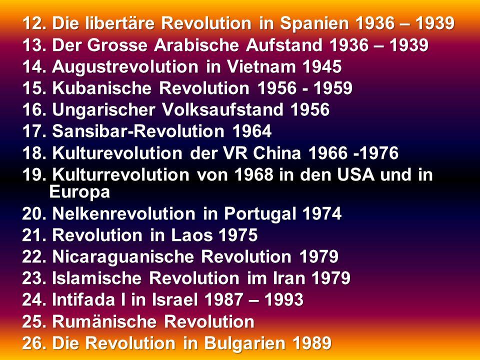 12. Die libertäre Revolution in Spanien 1936 – 1939