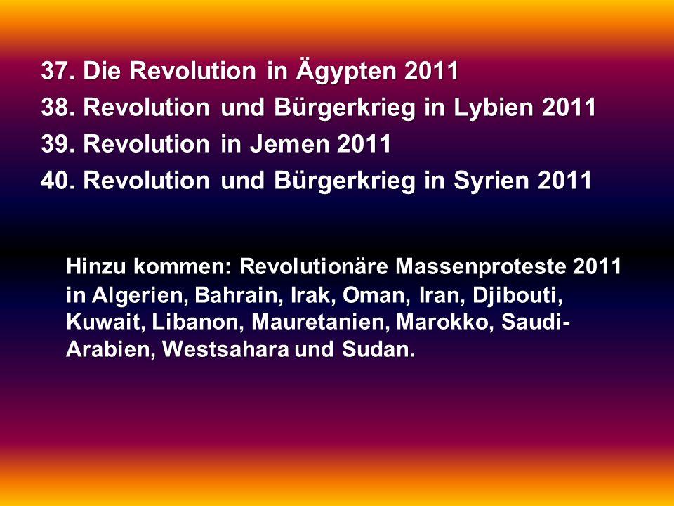 37. Die Revolution in Ägypten 2011