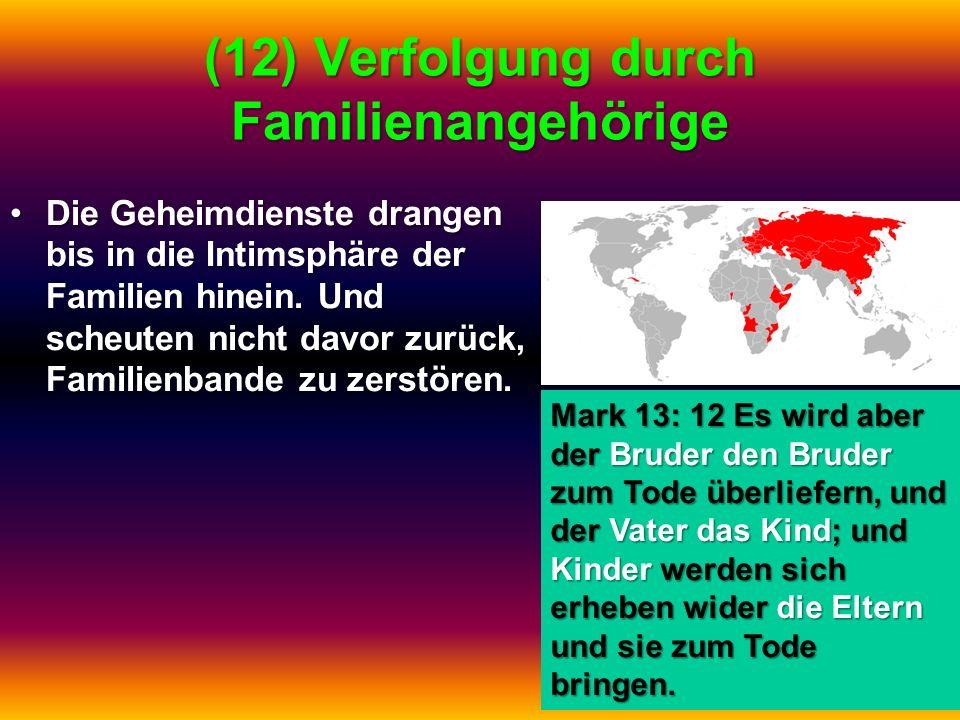 (12) Verfolgung durch Familienangehörige