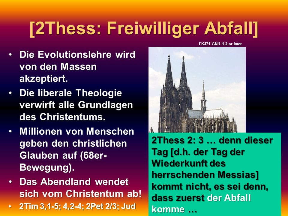 [2Thess: Freiwilliger Abfall]