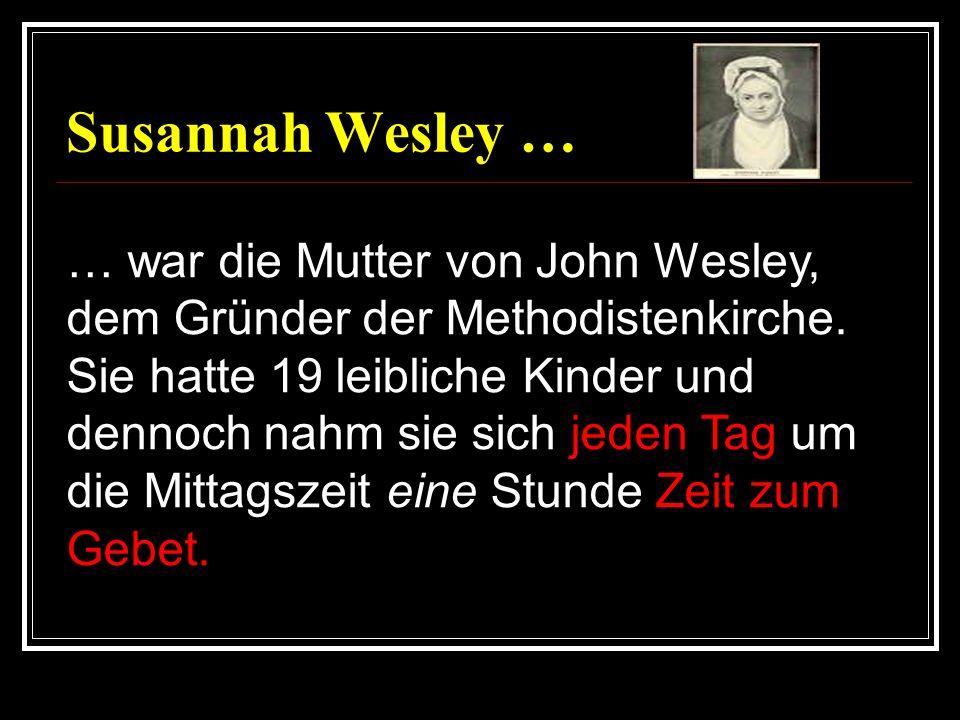 Susannah Wesley …