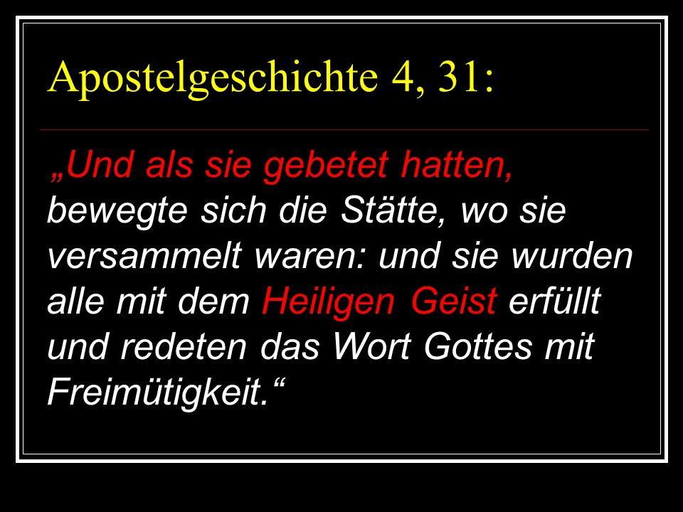 Apostelgeschichte 4, 31:
