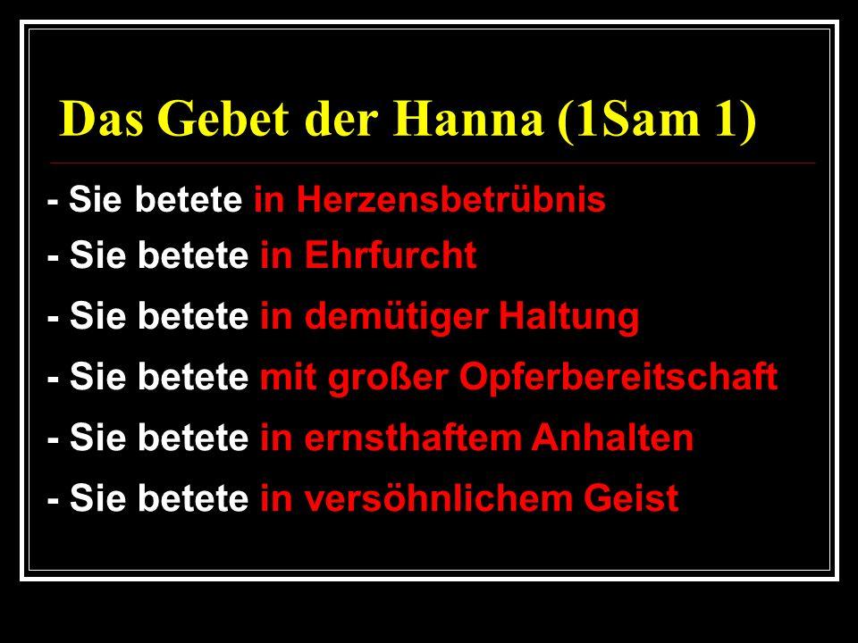 Das Gebet der Hanna (1Sam 1)