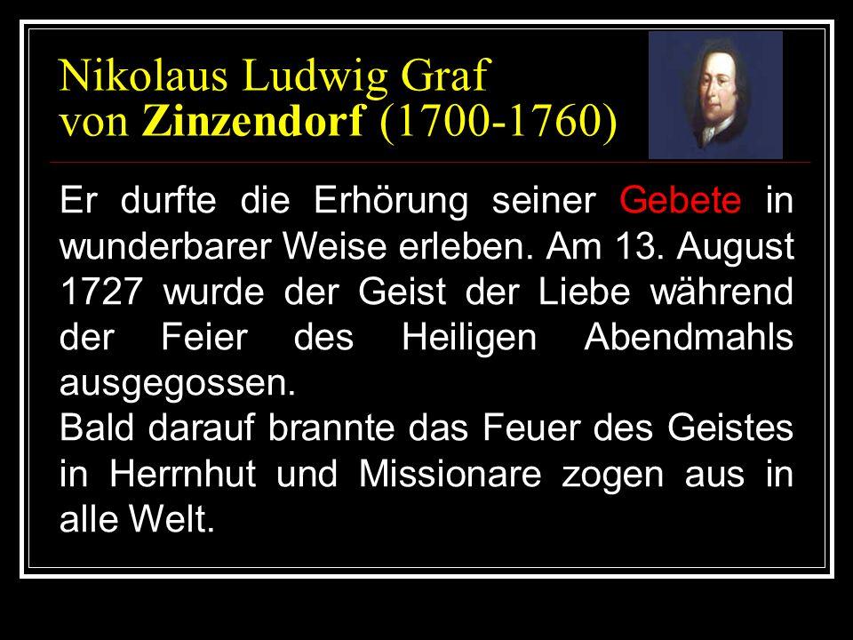 Nikolaus Ludwig Graf von Zinzendorf (1700-1760)