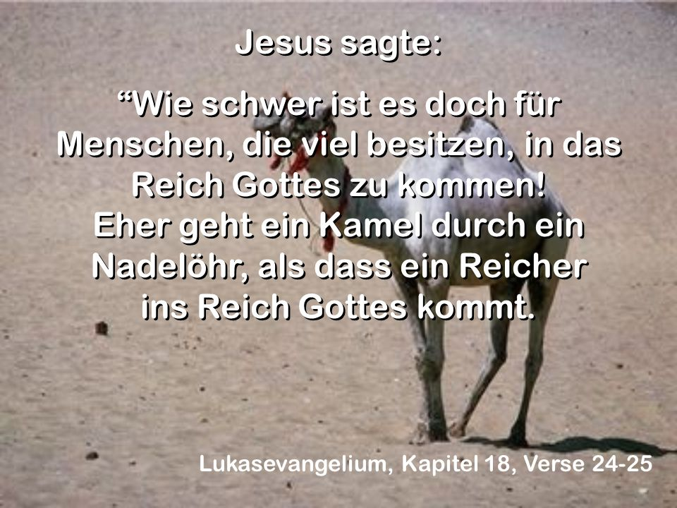 Jesus sagte: