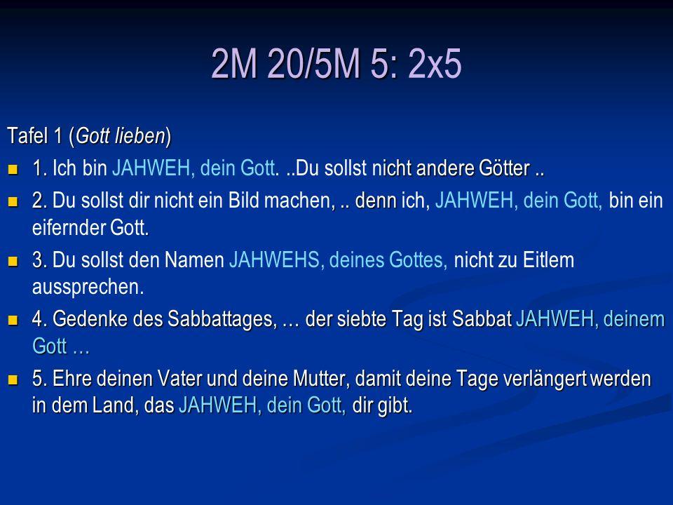 2M 20/5M 5: 2x5 Tafel 1 (Gott lieben)