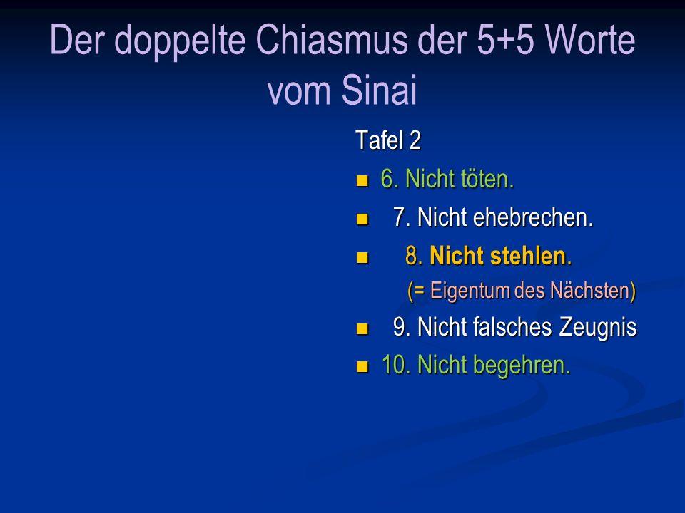 Der doppelte Chiasmus der 5+5 Worte vom Sinai