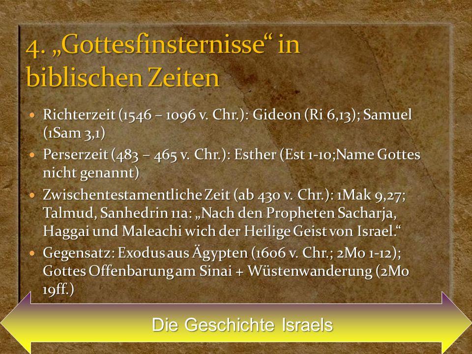 """4. """"Gottesfinsternisse in biblischen Zeiten"""