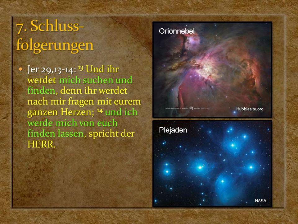 7. Schluss- folgerungen Orionnebel.