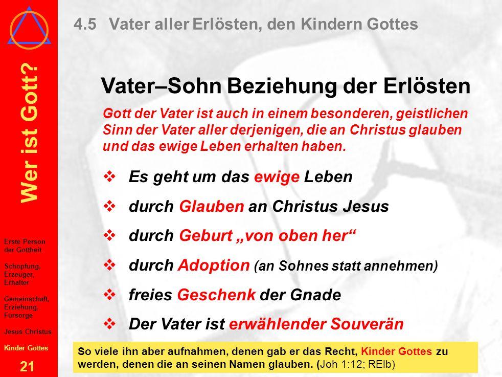 4.5 Vater aller Erlösten, den Kindern Gottes