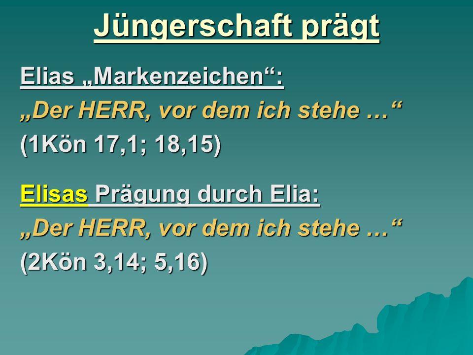 """Jüngerschaft prägt Elias """"Markenzeichen :"""