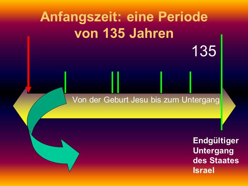 Anfangszeit: eine Periode von 135 Jahren