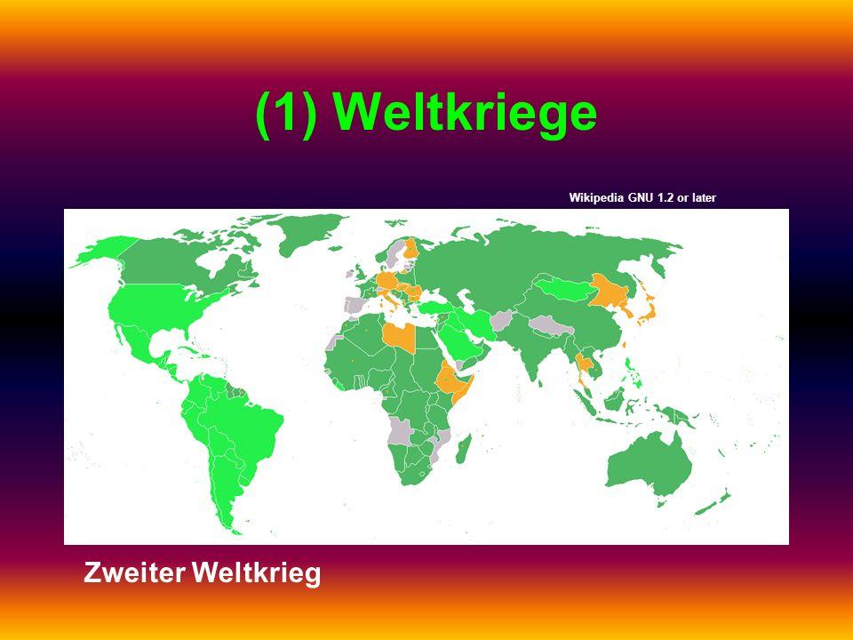 (1) Weltkriege Wikipedia GNU 1.2 or later Zweiter Weltkrieg