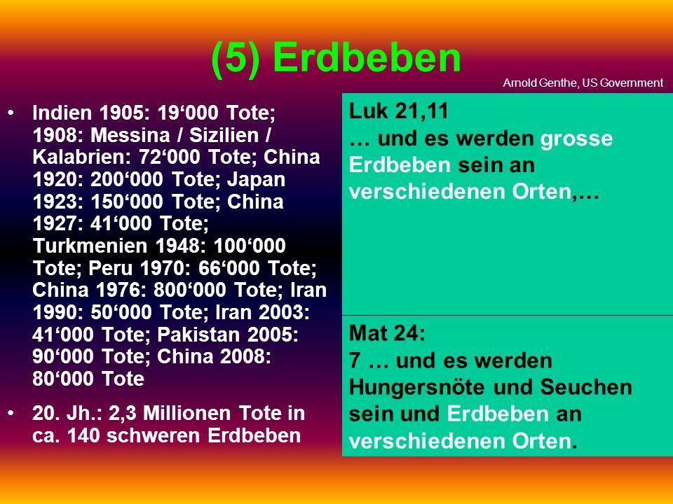 (5) Erdbeben Arnold Genthe, US Government. Luk 21,11. … und es werden grosse Erdbeben sein an verschiedenen Orten,…
