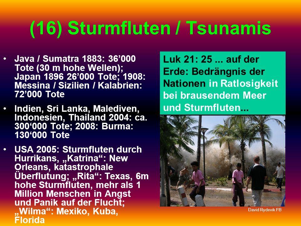 (16) Sturmfluten / Tsunamis