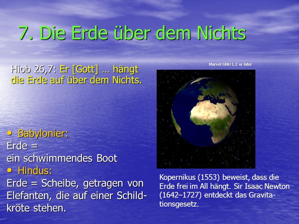 7. Die Erde über dem Nichts