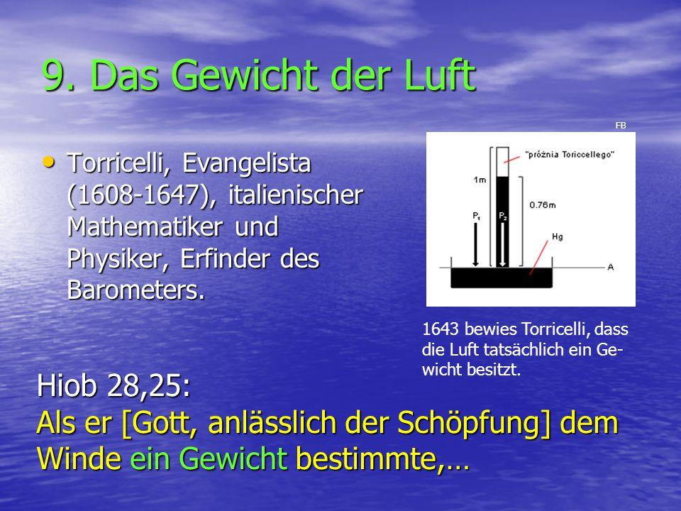 9. Das Gewicht der Luft Hiob 28,25: