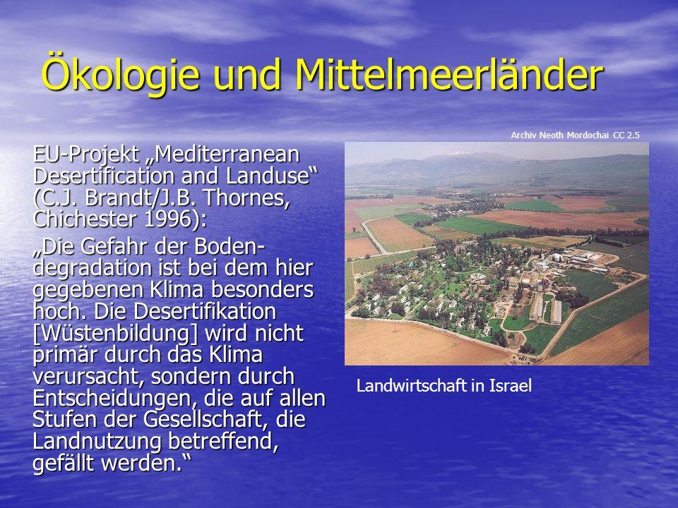 Ökologie und Mittelmeerländer