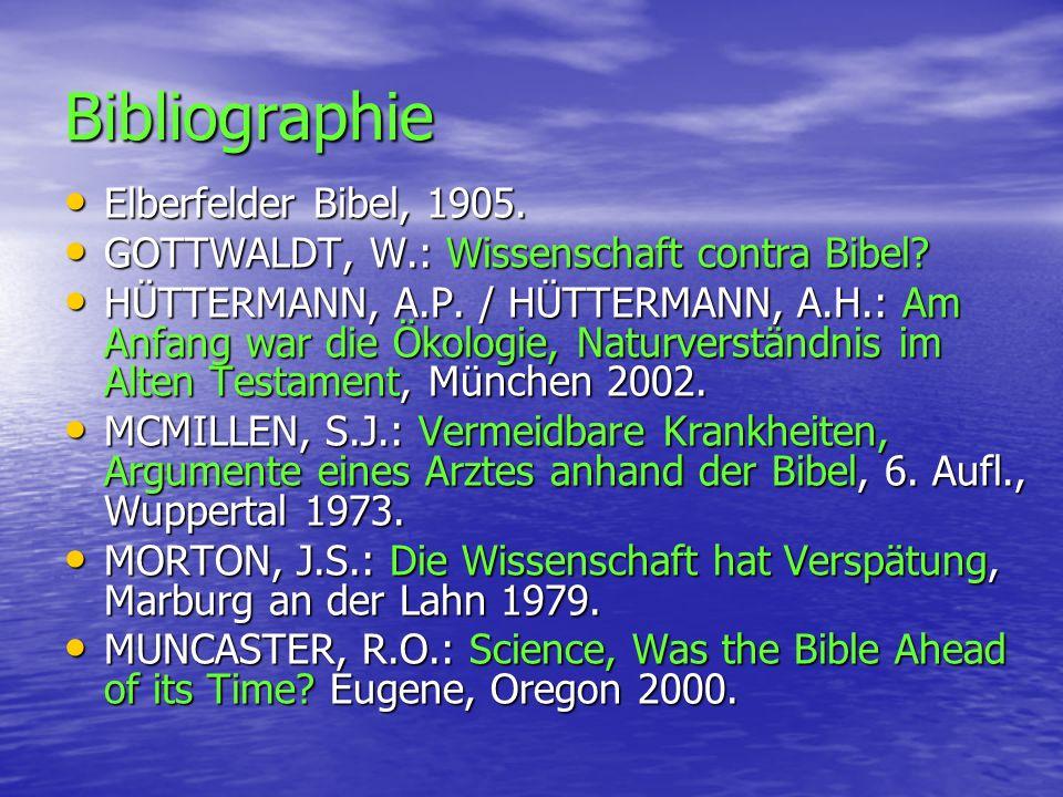Bibliographie Elberfelder Bibel, 1905.